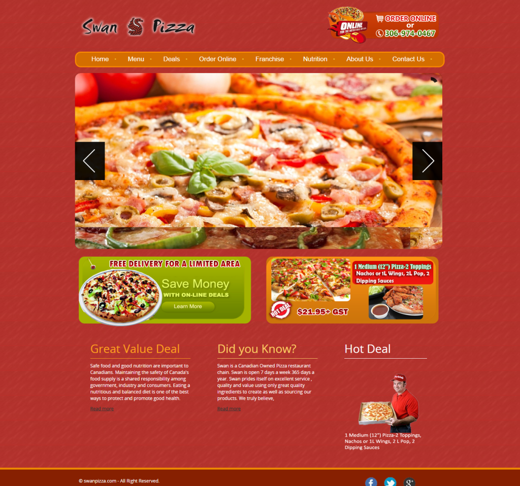 Web  Development for  pizzashop