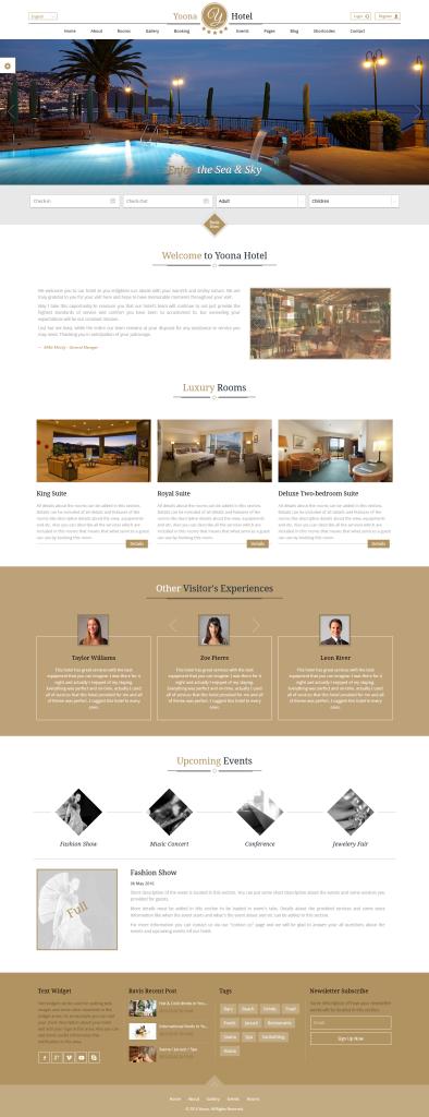 Yoona Hotel – Responsive Hotel Template - Yoona is a responsive template for hotels and resorts. 2015-11-13 01-42-50