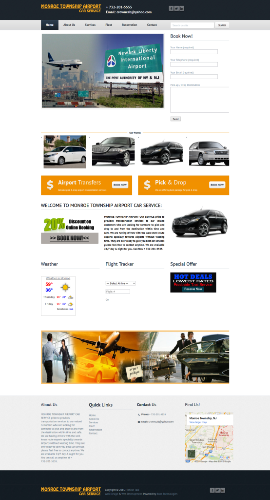 design website for airport car taxi