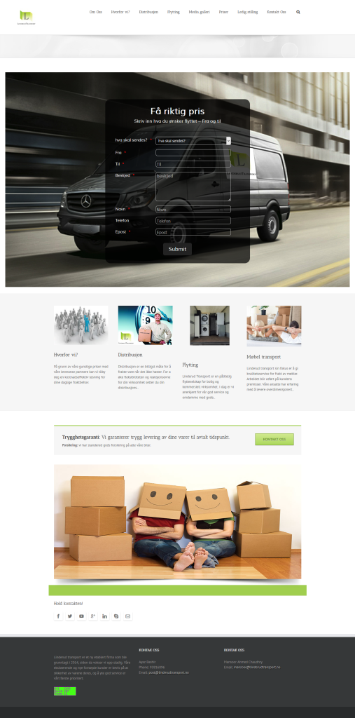 transportation web design