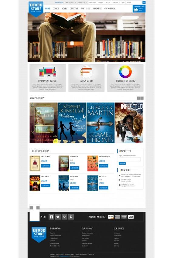 ecommerce magento design online bookshop